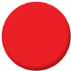 Plain Red 58mm Button Badge
